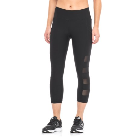 X by Gottex Mesh-Paneled Capris (For Women) in Black