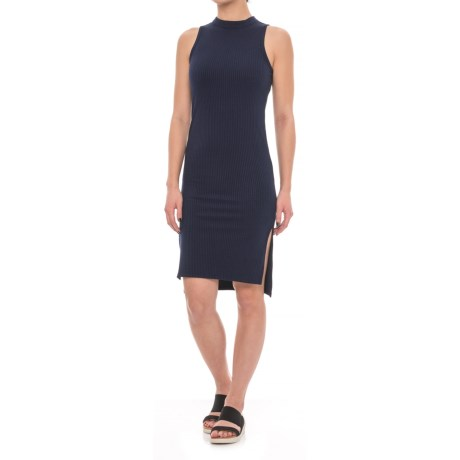 X by Gottex Mock Neck Side Slit Dress - Sleeveless (For Women) in Navy
