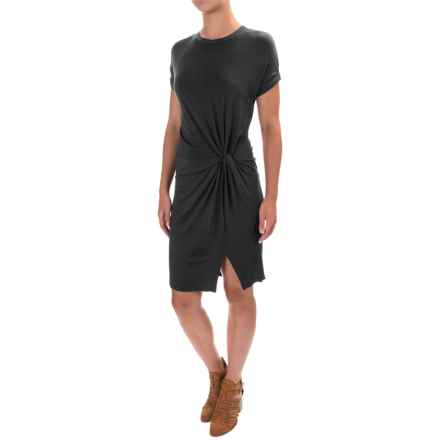 X by Gottex Modal Jersey Wrapped Drape Dress - Short Sleeve (For Women) in Black - Closeouts