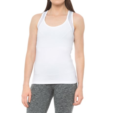 X by Gottex Open-Back Racerback Tank Top (For Women) in White