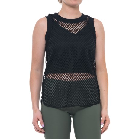 X by Gottex Open-Mesh Two-Layer Tank Top (For Women) in Black