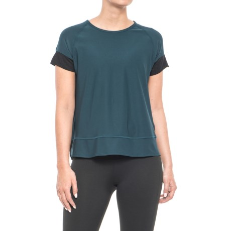 X by Gottex Overlapping Back Shirt - Short Sleeve (For Women) in Peacock