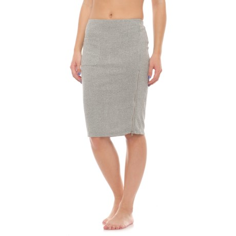 X by Gottex Ribbed Skirt (For Women) in Stone Heather