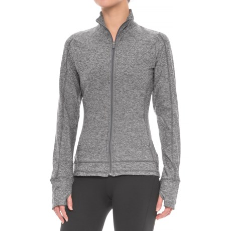 X by Gottex Ruffle Back Jacket - Full Zip (For Women) in Dark Grey