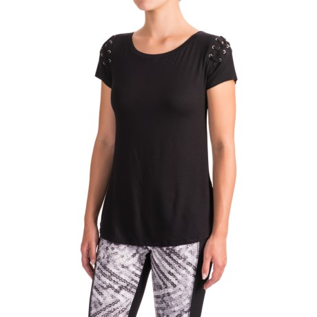 X by Gottex Shoulder Lace T-Shirt - Short Sleeve (For Women)