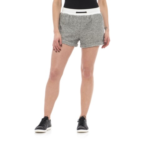 X by Gottex Terry Loop Shorts (For Women) in Loop Heather/White