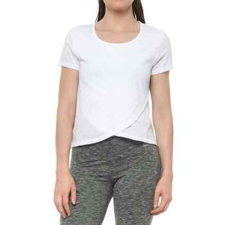 X by Gottex Tulip-Hem Shirt - Short Sleeve (For Women) in White - Closeouts