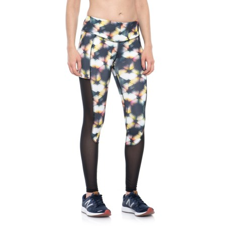 X by Gottex Tummy Control Mesh Panel Leggings (For Women) in Multi Geo Print