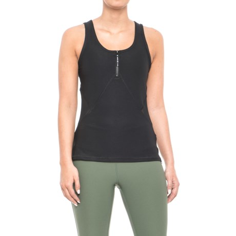 X by Gottex Zip Scoop Neck Fitted Tank Top (For Women) in Black