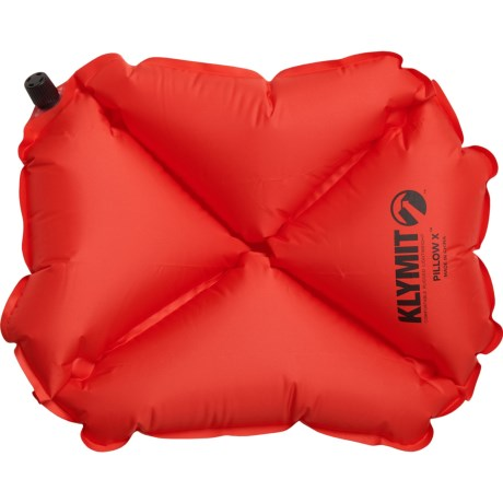 X-Inflatable Camping Pillow - Regular, Inflatable - RED ( )