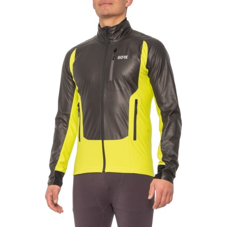 X7 Gore-Tex(R) INFINIUM Soft Lined Running Jacket (For Men) - BLACK/CITRUS GREEN (XL )
