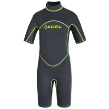 Xcel Axis 2mm Shorty Springsuit (For Big Kids) in Graphite/Black/Graphite - Closeouts