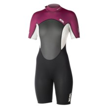 Xcel Axis OS Spring Wetsuit - 2mm, Short Sleeve (For Women) in Black/White/Burgundy - Closeouts