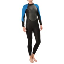 Xcel GCS 3/2 mm Full Wetsuit (For Women) in Black/Blue Aster - Closeouts