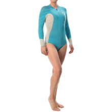 Xcel Hana 2mm Bikini Cut Springsuit - Long Sleeve (For Women) in Ocean Blue/Ice Grey/Ocean Blue - Closeouts