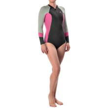 Xcel Hanalei 2mm Bikini Cut Spring Suit - Long Sleeve (For Women) in Graphite/Is Pink/Silver - Closeouts