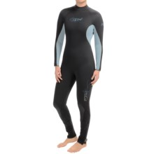 Xcel Hydro Tri-Density 5/4/3mm Full Wetsuit (For Women) in Black/Bonnie Blue - Closeouts