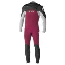 Xcel Infiniti Comp X2 Full Wetsuit - 3/2mm (For Men) in Merlot/Fog Blue/Black - Closeouts