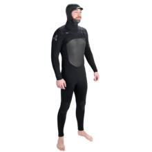 Xcel Revolt TDC X2 5/4mm Full Wetsuit with Hood (For Men) in Black - Closeouts