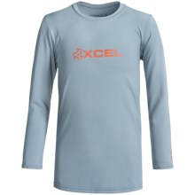 Xcel Robben Rash Guard - UPF 50+, Long Sleeve (For Little and Big Boys) in Alloy - Closeouts