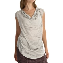 XCVI Aileen Voile Shirt - Short Sleeve (For Women) in Marble London Wash - Overstock