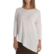 XCVI Aimee Shirt - Scoop Neck, 3/4 Sleeve (For Women) in White - Overstock