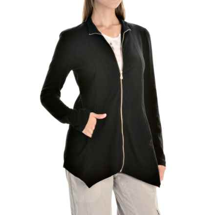 XCVI Aria Knit Jacket - Zip Front (For Women) in Black - Closeouts