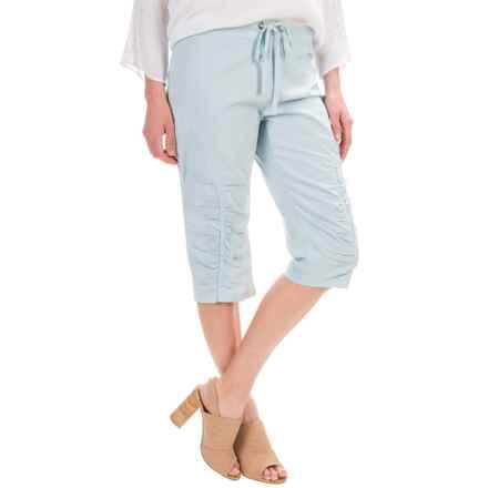 XCVI Beckham Shorts - Stretch Poplin (For Women) in Pearl Blue - Closeouts