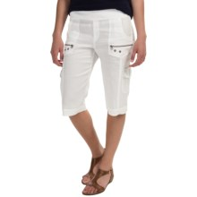 XCVI Bermuda Cargo Shorts (For Women) in White - Closeouts