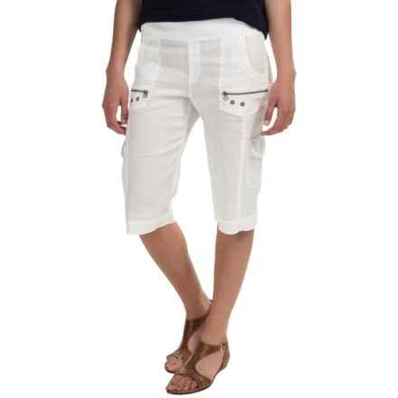 XCVI Bermuda Cargo Shorts (For Women) in White - Closeouts