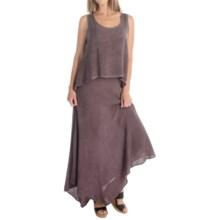 XCVI Cara Voile Dress - Sleeveless (For Women) in Oil Plum Wash - Overstock