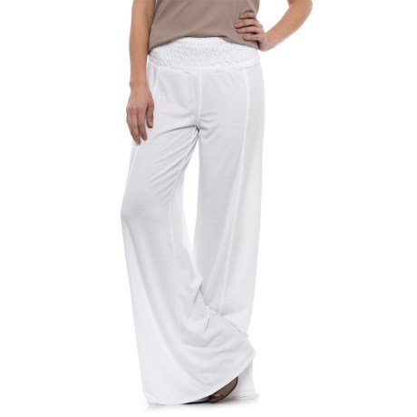 XCVI Carlitos Wide-Leg Stretch Pants (For Women) in White