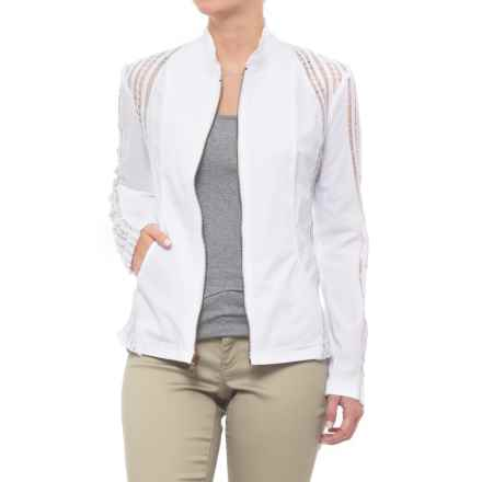 XCVI Carrington Stretch Poplin Jacket (For Women) in White - Closeouts