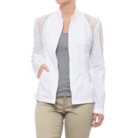 XCVI Carrington Stretch Poplin Jacket (For Women) in White