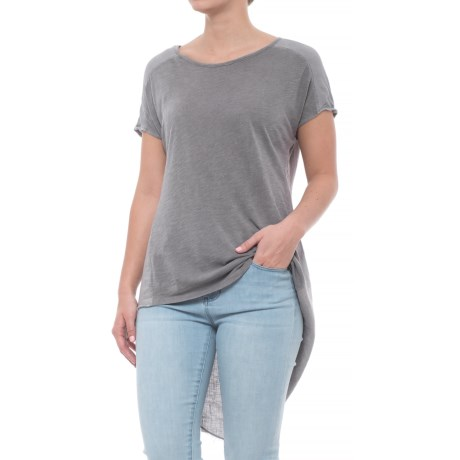 XCVI Cheyenne Shirt - Short Sleeve (For Women) in Grey Mist Pigment