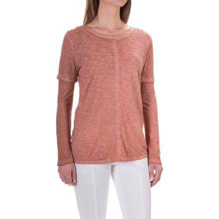 XCVI Eris High-Low Shirt - Long Sleeve (For Women) in Oil Wash Cedarwood - Closeouts