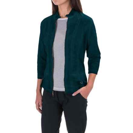 XCVI Eugenia Stretch-Poplin Jacket - 3/4 Sleeve (For Women) in Medusa - Closeouts