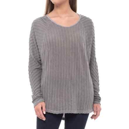 XCVI Fillipa Zita Shirt - Long Sleeve (For Women) in Grey Mist Pigment - Closeouts
