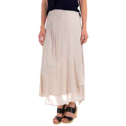 XCVI Gala Alexis Embroidered Skirt - Voile Rayon (For Women) in North Star - Closeouts