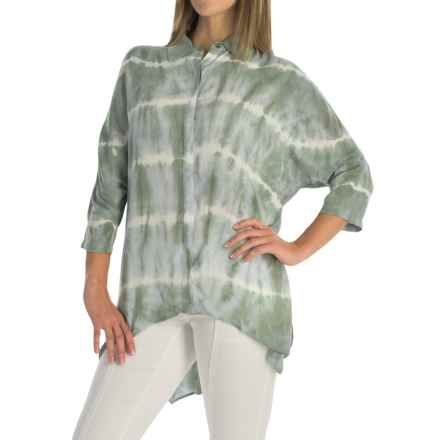 XCVI Hailey Voile Blouse - Hidden-Button Front, 3/4 Dolman Sleeve (For Women) in Jupiter Root Wash - Overstock