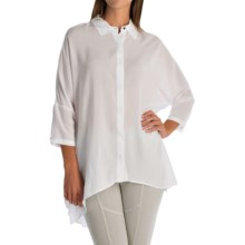 XCVI Hailey Voile Blouse - Hidden-Button Front, 3/4 Dolman Sleeve (For Women) in White - Overstock