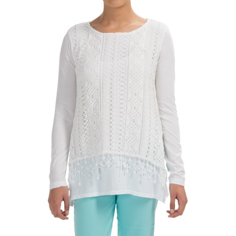 XCVI Hearst Crochet Overlay Shirt Long Sleeve (For Women)
