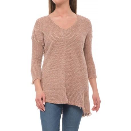 XCVI Ida Vesna Knit Shirt - 3/4 Sleeves (For Women) in Monks Robe Pigment