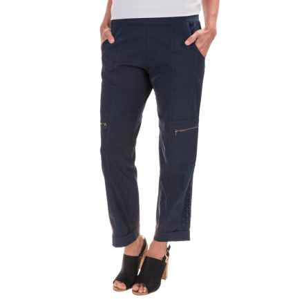 XCVI Iezabel Stretch Poplin Pants (For Women) in Anchor Navy - Closeouts