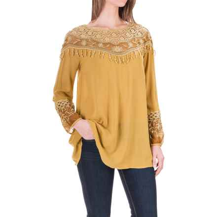 XCVI Jaci Rayon Shirt - Long Sleeve (For Women) in Golden Rod - Closeouts