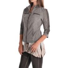 XCVI Kamani Jacket - 3/4 Sleeve (For Women) in Rock Pigment - Overstock