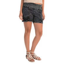 XCVI Kaya Shorts (For Women) in Heavy Distress Black Wash - Overstock