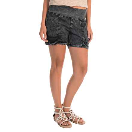 XCVI Kaya Shorts (For Women) in Heavy Distress Black Wash - Overstock