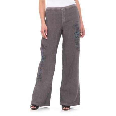 XCVI Kinsley Pinstripe Pants (For Women) in Grey Mist Pigment