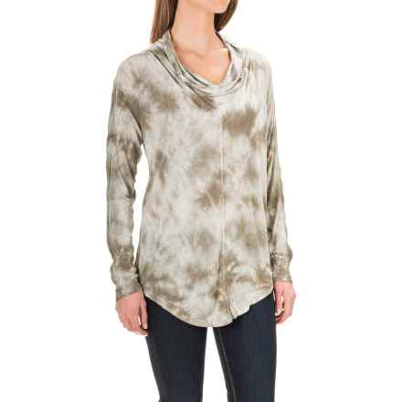 XCVI Madelina Rayon Shirt - Cowl Neck, Long Sleeve (For Women) in Flurry Wash Lark - Closeouts